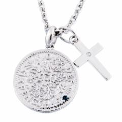close to me(クロストゥーミー) シルバー925 コイン メンズ ダイヤモンド キュービックジルコニア ネックレス sn13-185【送料無料】