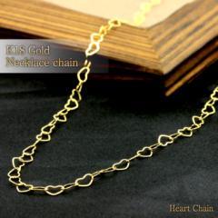 K18(18金) ゴールドチェーン ハートチェーン k18 ネックレス ハート  レディース ネックレス 送料無料 誕生日プレゼント ギフト