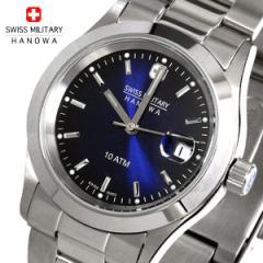 [送料無料]スイスミリタリー腕時計メンズ エレガント・ブルー ML-100