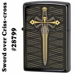 zippo(ジッポーライター) Sword over Criss-cross♯28799 Ebony