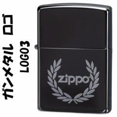 zippo(ジッポーライター)ガンメタル ロゴ 3 ZIPPOロゴ