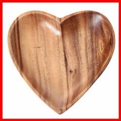 木製食器 ナチュラル アカシア ハート型トレー 70185 不二貿易 プラザセレクト
