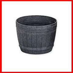 ≪リサイクル木粉40%入り≫木樽風ポット 8号 ダークブラウン  アイリスオーヤマ