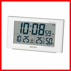 セイコークロック 時計 SQ758W [掛け時計・目覚まし時計・温湿度・電波][プラザセレクト]