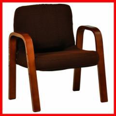 ギア付き座椅子 ブラウン RZ-1253BR 萩原  プラザセレクト 送料無料