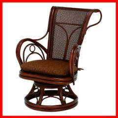 回転座椅子 ブラウン RZ-821BR 萩原  プラザセレクト 送料無料