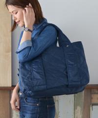 ナイロン スクエア トートバッグ ネイビー 紺色 レディース マザーズバッグ 軽量 大きめ A4 幼稚園 ママ 即納