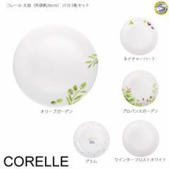 【送料無料】 コレール 大皿(外径約26cm) J110 5枚セット 【コレール】【食器】【強化ガラス】