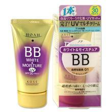 コーセー ノア ホワイト&モイスチュア BBクリーム UV 01 自然な肌色 50g  NOAH KOSE COSMEPORT
