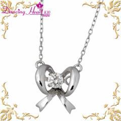 Dancing Heart ダンシングハート ネックレス レディース ゴールド K10 ホワイトゴールド ダイヤモンド Pretty Ribbon DH-005 リボン