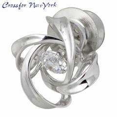 クロスフォー ニューヨーク Crossfor NewYork ピンブローチ レディース Spiral1 シルバー タイニーピン キュービック NY-T014
