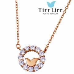 ティルリル TirrLirr ネックレス レディース ピンクゴールド シルバー キュービック TNS-111