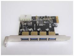 メール便送料無料■USB3.0 増設4ポート PCI-Eカード デスクトップ用 PCIE-USB3/4