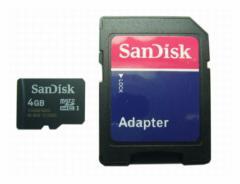 メール便可能■ SDアダプタ付 microSDHC4GB Class4 UHS-1規格にも対応