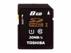 メール便送料無料■東芝製 高速SDHCカード8GB Class10 SD-K008GR7AR30