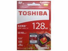 メール便送料無料■東芝製 SDXCカード 128GB クラス10 THN-N301R1280C4