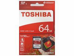 メール便送料無料■東芝製 SDXCカード 64GB クラス10 THN-N302R0640E4