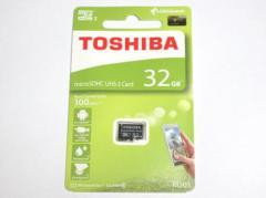 東芝製 microSDHC 32GB クラス10 100MB/s THN-M203K0320A4【ネコポス送料無料】