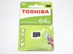 東芝製 microSDXC 64GB クラス10 100MB/s THN-M203K0640A4【メール便送料無料】