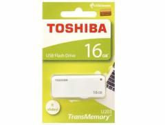 東芝 USBフラッシュメモリー 16GB スライド式 THN-U203W0160A4【メール便可能】