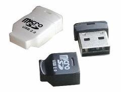 メール便可能■SDHC対応 超小型 USB microSDカードリーダー TF-USB2/M