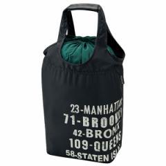 エコバッグ おしゃれ /巾着式 ショッピング エコバッグ ブルックリン【メール便送料無料】[SKA]