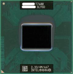 【中古】Core 2 Duo モバイル T7600★2.33GHz FSB667MHz Merom★SL9SD★【送料180円〜】【即納】≪intel インテル Core2Duo core2≫