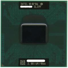【中古】Core 2 Duo モバイル T9600★2.80GHz FSB1066MHz★SLG9F★【送料180円〜】【即納】≪intel インテル Core2Duo core2≫