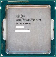 【中古】Core i7 4770 Haswell★3.4GHz LGA1150★SR149★【即納】【送料無料】≪intel インテル CPU バルク≫