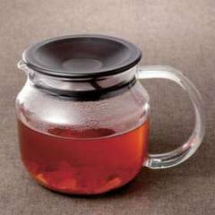 One touch ティーカップポット ガラス製 450ml( ティーポット 急須 耐熱ガラス )