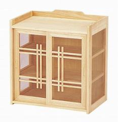 和風蝿帳 桐( キッチン 収納 卓上 和風小物入れ 戸棚 桐 天然木 )