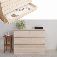桐洋風チェスト 6段 白木 ( 桐箪笥 桐タンス 着物収納 桐たんす 日本製 国産 完成品 )