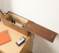 桐ケーブルボックス ブラウン色( タップボックス ケーブル 収納 電源 コードケース 箱 日本製 )