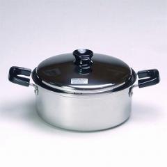 鍋 IH対応 ステンレス製 クレアーレ 両手鍋 22cm