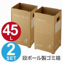 ゴミ箱 段ボールゴミ箱 45L 組み立て式 2枚入 屋外用 イベント用 ( 分別ゴミ箱 大容量 )
