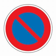 路面道路標識 「駐車禁止」 強力粘着テープ付き 軟質エンビタイプ