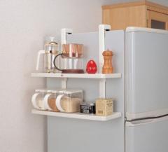 収納棚 冷蔵庫サイドラック( キッチン 冷蔵庫収...