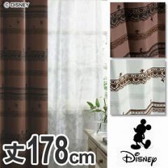 ドレープカーテン Disney ディズニー ミッキー トリムウェイ 100×178cm スミノエ ( 遮光 )