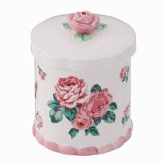 トイレポット 小物入れ 薔薇 バラトイレポット 陶器 ( ゴミ箱 )