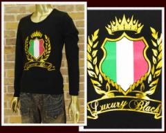 ラグジュアリーブラック ロングTシャツ メンズ LUXURY BLACK 【LB12SS-03 イタリアン】