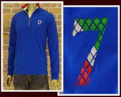 ヴィオラルモーレ イタリアントリコロール モチーフ ZIP ポロシャツ メンズ VIOLA RUMORE 【A41119-3-2】