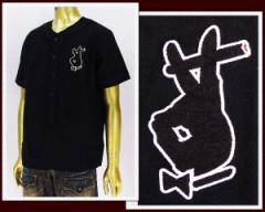 アイディー HAND RABBIT ベースボールシャツ メンズ EYEDY 【EYE-SH1502PRAY】