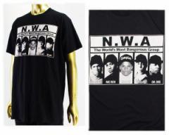 エヌダブルエー Straight outa compton(ストレイト・アウタ・コンプトン) Tシャツ メンズ N.W.A NWA 【NWA03-BLK NWA】