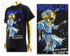 オフィシャル ライセンス カニエウェスト ジャスティンビーバー着用 Metallica メタリカ ロックTシャツ メンズ OFFICIAL LICENSE 【MET2