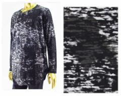グロウス バイ グレイル ロング丈 カスレプリント Tシャツ カットソーL/S メンズ GROWTH BY GRAIL 【163-3666-2カスレ】