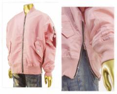 スモークライズ ビッグ サイズ対応 ニューヨーク ブランド パリコレを意識した ピンク ナイロンMA1 ジャケット メンズ SMOKE RISE 【JJ71