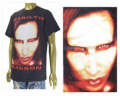 オフィシャル ライセンス Marilyn Manson マリリン マンソン Justin Bieber ジャスティンビーバー着用 Tシャツ メンズ OFFICIAL LICENSE