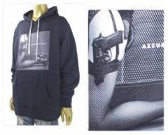 アズーロデザイン DJ GO がディレクション ギャングスタ ガール スウェット プルパーカー メンズ AZZURRO DESIGN 【Z18W04 ガール】