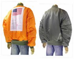 アルファインダストリーズ BLOOD CHIT(兵士の身分を証明、保護を求める文) MA-1 フライトジャケット メンズ ALPHA INDUSTRIES 【TA0129 0