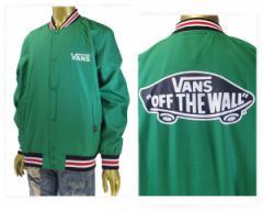 バンズ Line Rib Stadium Jacket シンプルながらレトロな雰囲気のラインリブ スタジアムジャケッ メンズ VANS 【VA17FW-MJ11 SIT】